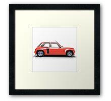 Renault 5 Turbo (red) Framed Print