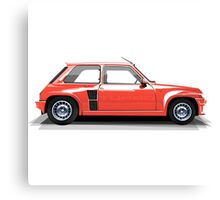 Renault 5 Turbo (red) Canvas Print