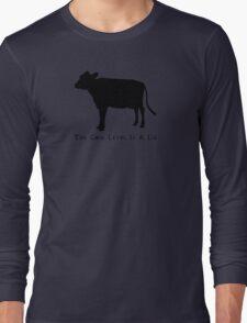 Cow Level-Black Long Sleeve T-Shirt