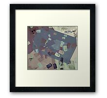 Call Box Chaos (Subdued) Framed Print