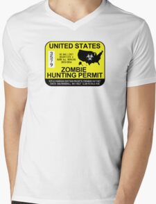 Zombie Hunting Permit 2015/2016 Mens V-Neck T-Shirt