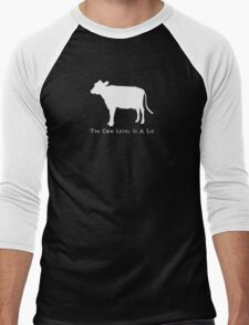 Cow Level-White Men's Baseball ¾ T-Shirt