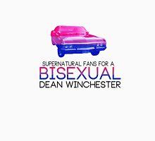 Support Bisexual Dean (black text) Unisex T-Shirt
