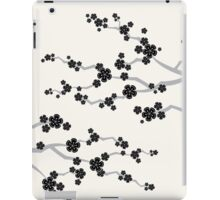 Zen Black Sakura Cherry Blossoms Flowers iPad Case/Skin