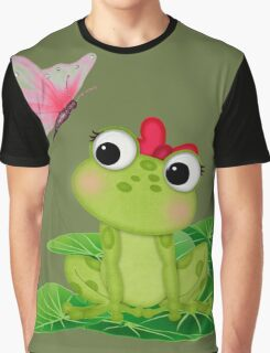Cute Girl Frog 2 Graphic T-Shirt