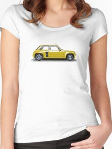 Renault 5 Turbo (yellow) Women's Fitted Scoop T-Shirt