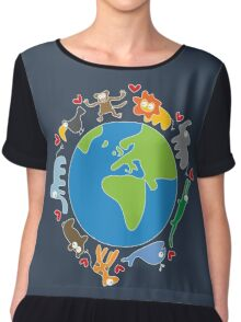 We Love Our Planet ! Chiffon Top