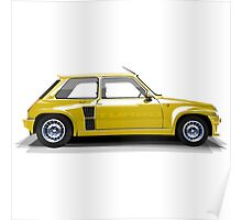 Renault 5 Turbo (yellow) Poster