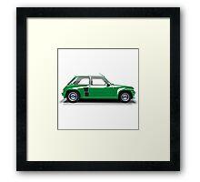 Renault 5 Turbo (green) Framed Print