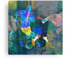 Soccer players Canvas Print
