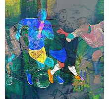 Soccer players Photographic Print