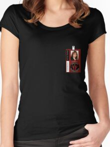 Fringe Parallel Universe Olivia Dunham ID Badge Shirt Women's Fitted Scoop T-Shirt