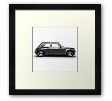 Renault 5 Turbo (black) Framed Print