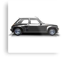 Renault 5 Turbo (black) Metal Print