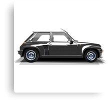 Renault 5 Turbo (black) Canvas Print