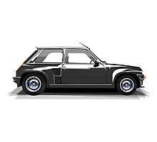 Renault 5 Turbo (black) Photographic Print