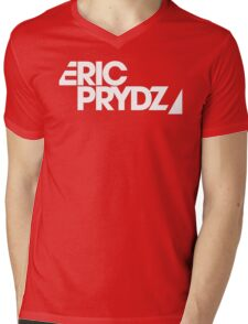 Eric Prydz white transparant Mens V-Neck T-Shirt
