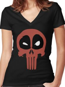 PunisherPool Women's Fitted V-Neck T-Shirt