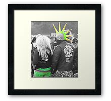 Mr & Mrs Punk Framed Print