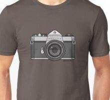 Asahi Pentax 35mm Analog SLR Camera Line Art Graphic Gray Unisex T-Shirt
