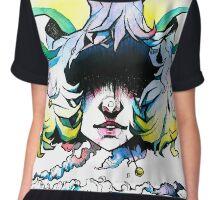Voodoo Demon / Watercolour illustration / Demon girl Chiffon Top
