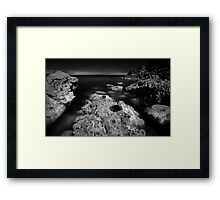 The Rock - Infra Red Sea Framed Print