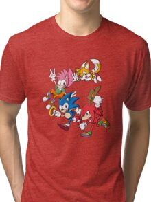 Classic Sonic Team Tri-blend T-Shirt