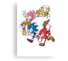 Classic Sonic Team Canvas Print