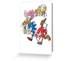 Classic Sonic Team Greeting Card