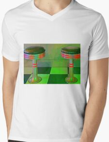 Retro Restaurant Stools High Glow Mens V-Neck T-Shirt