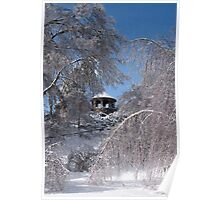 Gazebo after Ice Storm Poster