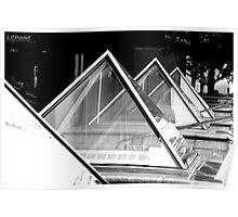 Glass Pyramids Poster