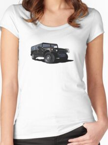 Hummer H1 Wagon (black) Women's Fitted Scoop T-Shirt