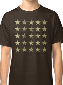 Distressed Gold Stars Pattern Classic T-Shirt