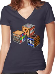 Geeky Cubes Women's Fitted V-Neck T-Shirt