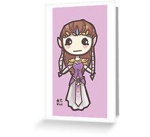 Zelda Chibis (2016)- Zelda Greeting Card