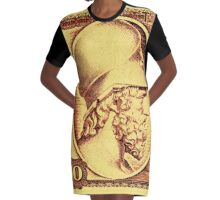 (100 Drachma) Themistocles Graphic T-Shirt Dress