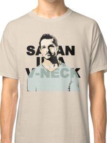 Satan in a V-Neck Classic T-Shirt