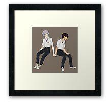Kaworu + Shinji - Neon Genesis Evangelion  Framed Print