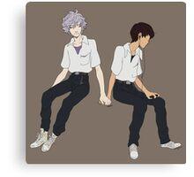 Kaworu + Shinji - Neon Genesis Evangelion  Canvas Print