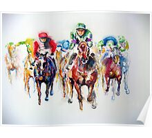 Racing Colors Thoroughbred Racehorse  Poster
