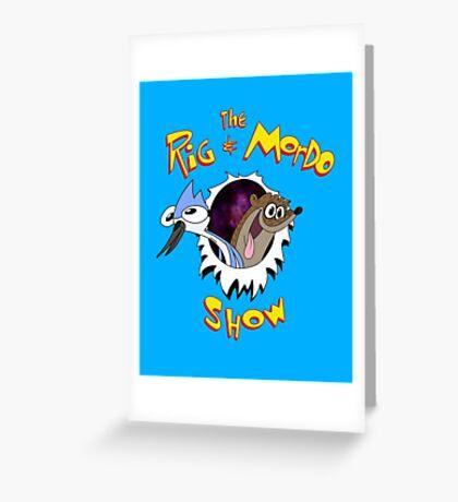 The Regular & Stimpy Show Greeting Card