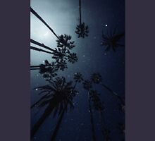 Palm Trees, Night Sky, Stars, Moon Unisex T-Shirt