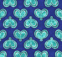 Blue Double Winged Butterfly Club Sticker