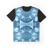 Blue Apophysis Fractal Graphic T-Shirt