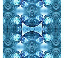 Blue Apophysis Fractal Photographic Print