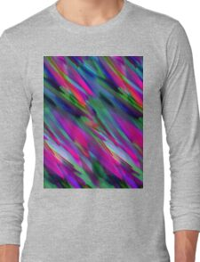 Colorful digital art splashing Long Sleeve T-Shirt