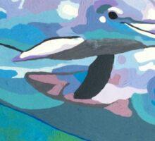 Dolphin Swim Sticker
