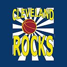 Cleveland Rocks with Basketball by Greenbaby