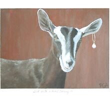Goat Painting in Girl with a Pearl Earring series by PhyllisGAndrews
